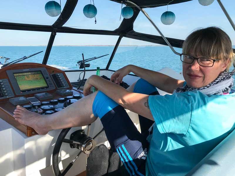 Bei dem Wetter ist die Fahrt übers Meer sehr entspannt