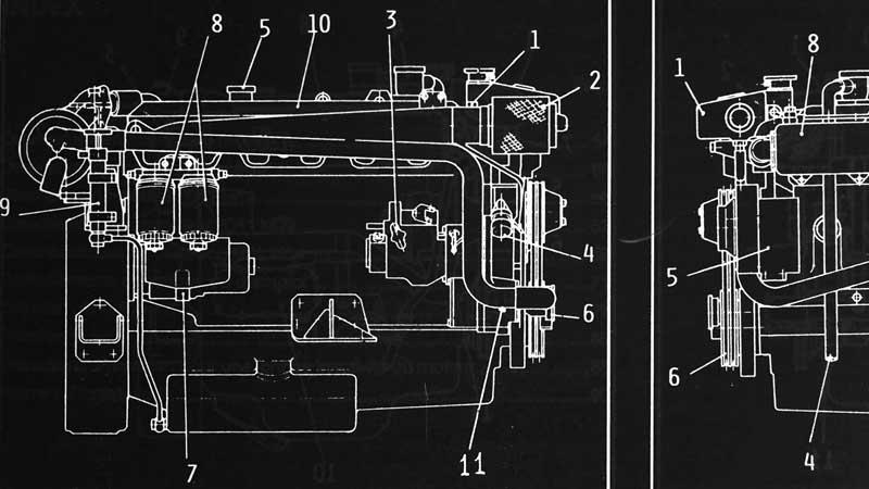 Technische Zeichnung der IVECO Motors