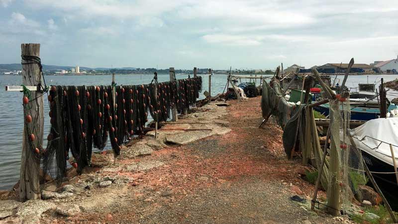 Der kleine Fischerhafen in Ponte Courte, Sète