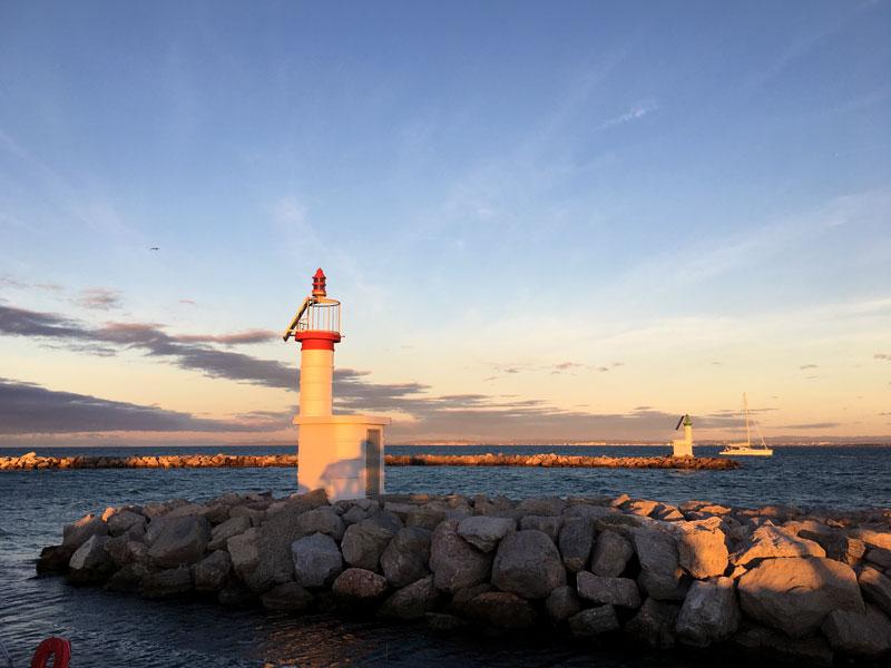 Unser Liegeplatz im Port Camargue bietet einen sehr schönen Ausblick