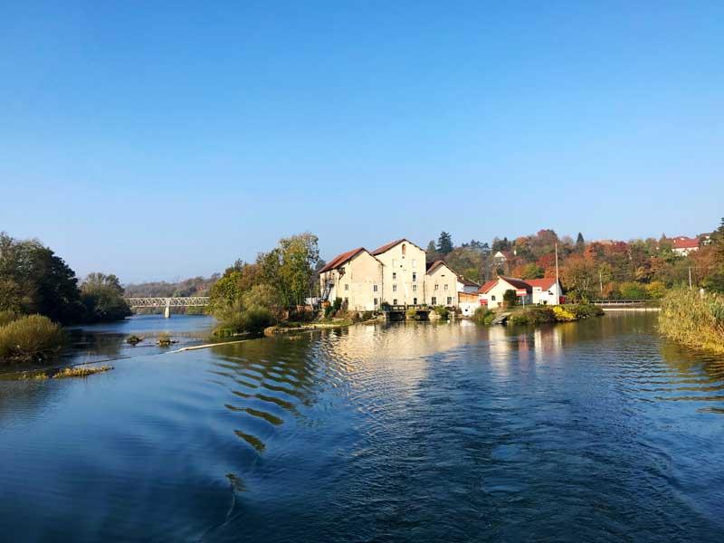 Auf dem Canal du Rhône au Rhin bei Salans