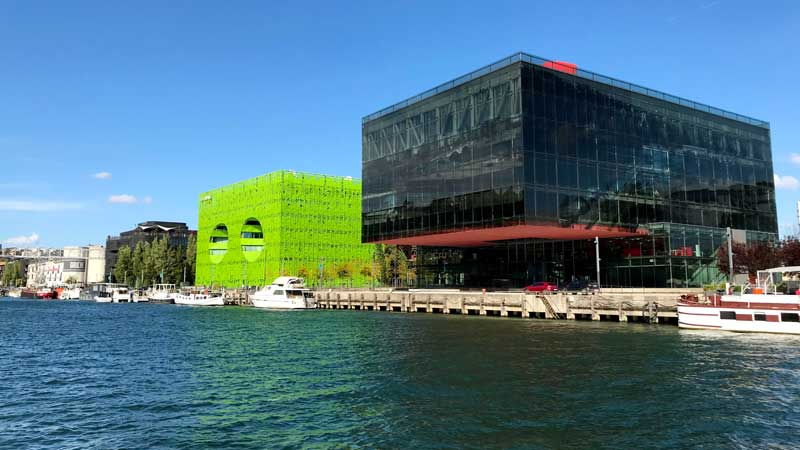 Moderne Architektur in Lyon Confluence