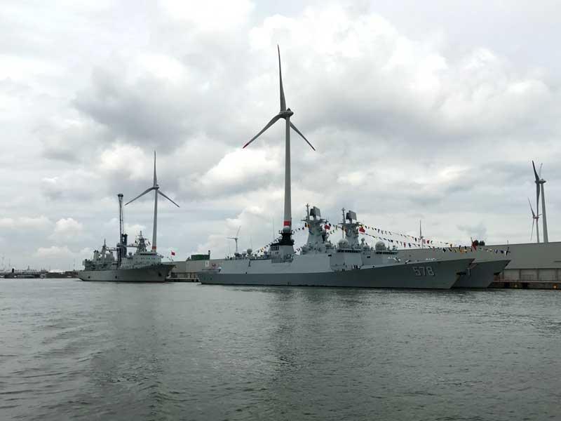 Im Hafen von Antwerpen liegt auch eine Flotte der belgischen Marine