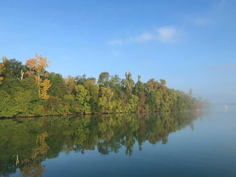 Herbst an der Saône
