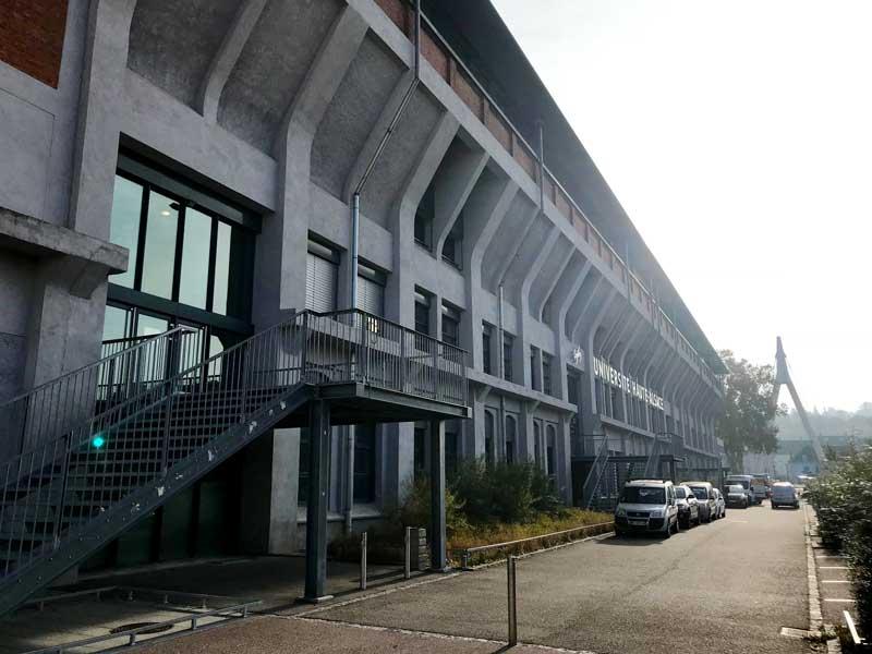 In der alten Gießerei befindet sich heute die Universität Haut-Alsace