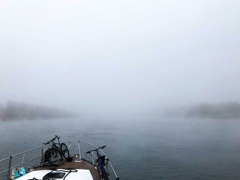 Nebel über dem Rhein