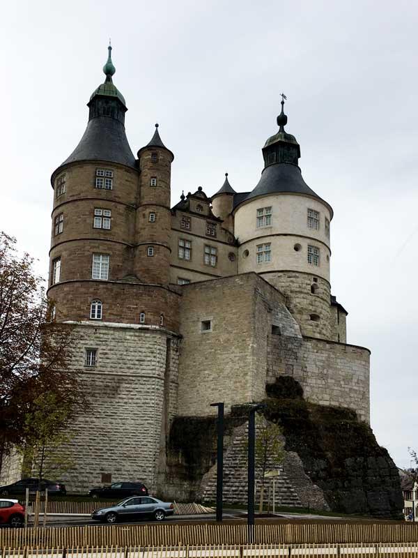 Das Schloss in Montbeliard wurde vom Hause Württemberg erbaut