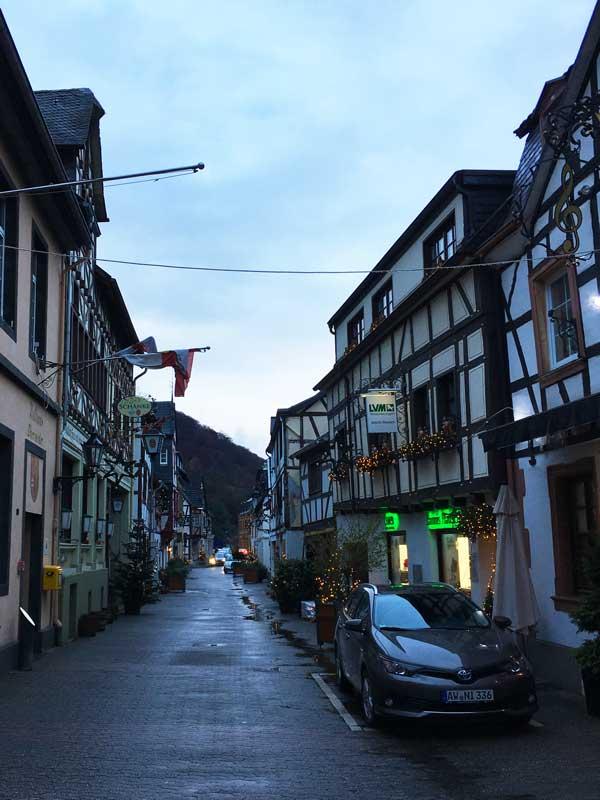 Der Ortskern von Oberwinter besteht fast vollständig aus hübschen kleinen Fachwerkhäusern, die einen sehr gepflegten Eindruck machen