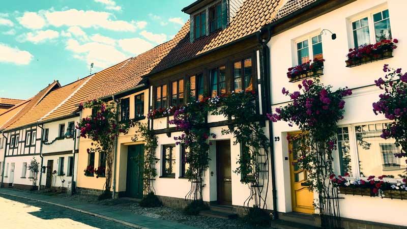 Häuserzeile in Haldensleben