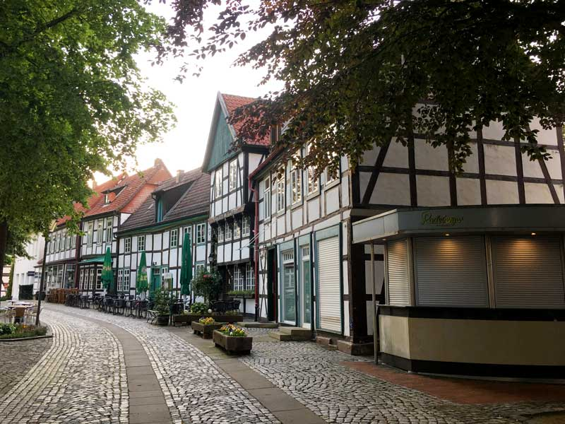Bad Essen - historisches Zentrum mit Fachwerkhäusern