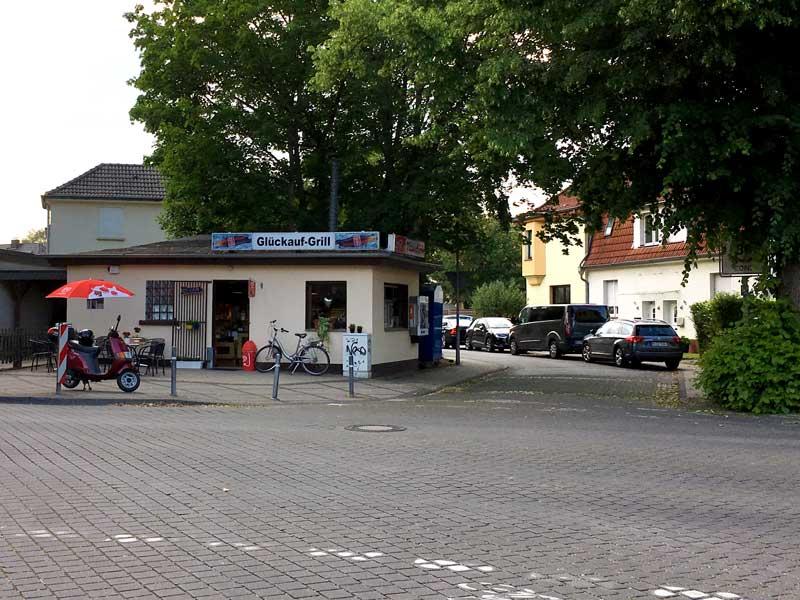 In der Zechensiedlung der Zeche Leopold in Dorsten befindet sich auch der Glückauf-Grill