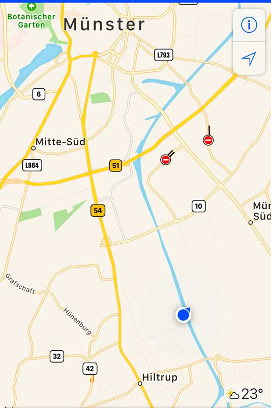Ein Photo der Karte - hier kann man die Gleisanlagen finden