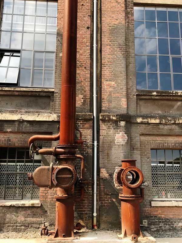 Zeche Leopold in Dorsten: Maschinenhalle von außen