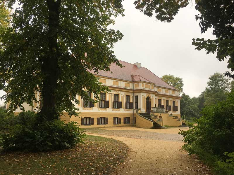 Gartenseite von Schloss Caputh, Brandenburg